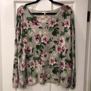Joie Floral Sweater size Large!